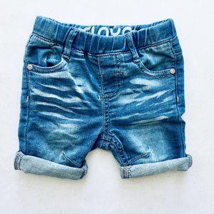 Mini Mo Distressed Jean Shorts